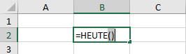 HEUTE Funktion - Schritt 3