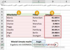 SVERWEIS Spaltenindex für den Rückgabewert definieren