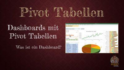 Lektionsvorschau: Excel Pivot Tabellen