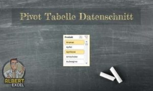 Pivot Tabelle Datenschnitt