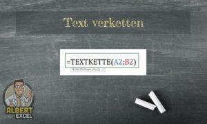 Excel Text verketten