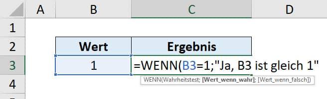Excel WENN Funktion Anleitung Schritt 3