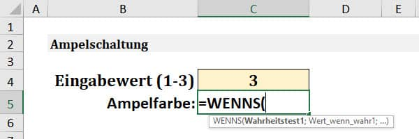 Excel WENNS Anleitung Schritt 1