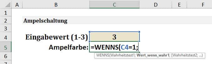 Excel WENNS Anleitung Schritt 2