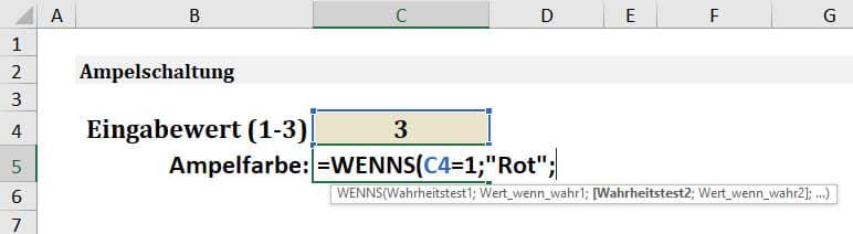 Excel WENNS Anleitung Schritt 3