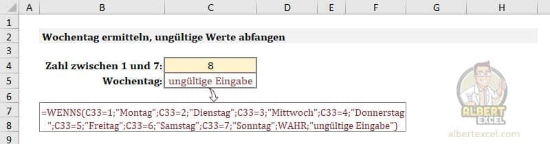Excel WENNS Funktion Fehler #NV vermeiden