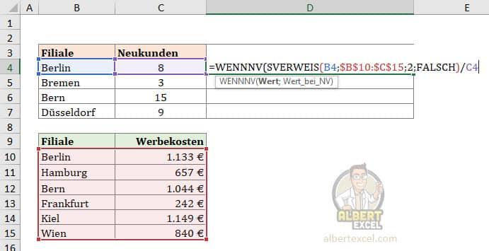 WENNNV Beispiel und Anleitung - Schritt 2