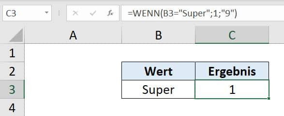 WENN Funktion Beispiel 2