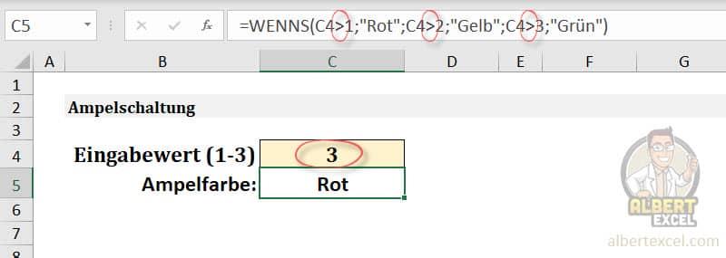 Warum gibt die WENNS Funktion ein falsches Ergebnis zurück?