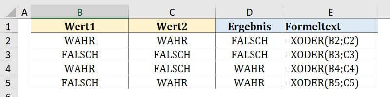 Warum ergibt XODER bei zweimal WAHR gleich FALSCH?