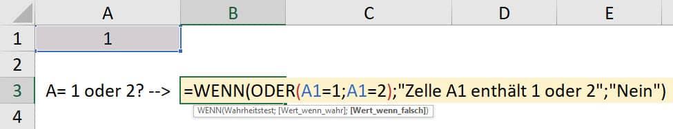Wie können mehrere Bedingungen in einer WENN DANN Funktion verwendet werden?